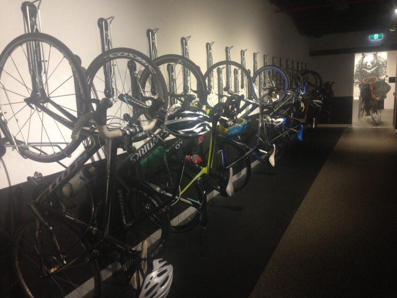 Space saving vertical bike storage
